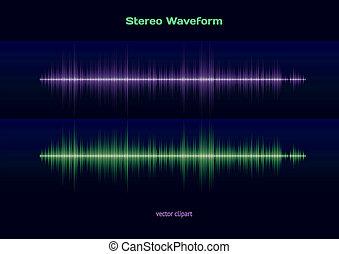 Stereo sound waveform