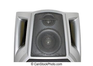 Stereo speaker isolated on white