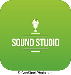 Stereo studio icon green vector