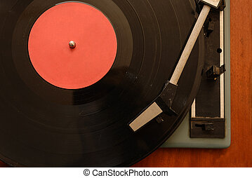 Stereo Turntable Vinyl Record Player Analog Retro Vintage front view