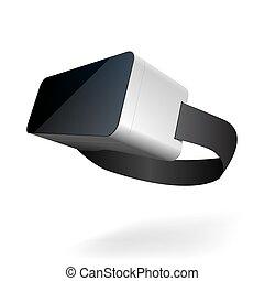 stereoscopic, 3d, vr, anteojos, para, smartphone