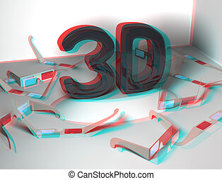 Stereoscopic effect on 3D design
