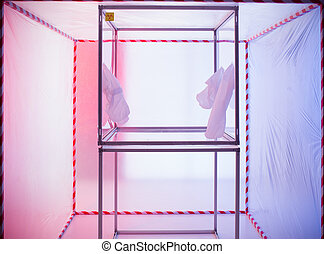 sterile chamber in containment tent