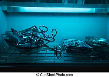 sterilizing the medical instrument