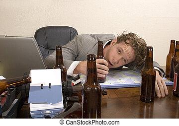 sterke drank, kantoor