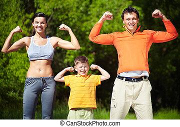 sterke, gezin