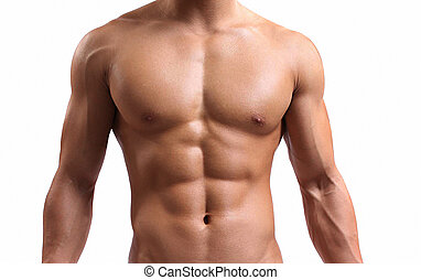 sterke, torso, jonge man