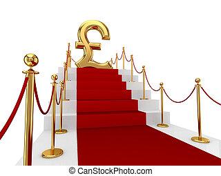sterlina, carpet., libbra, rosso, segno