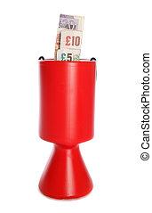 sterlina, soldi, collezione, carità