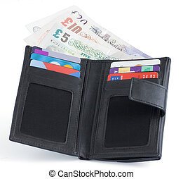 sterlina, soldi, note, credito, regno unito, cartelle