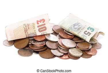 sterling, argent, tas