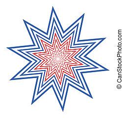 stern, amerikanische , design, feier