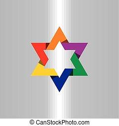 stern, bunte, symbol, element, hintergrund, ikone