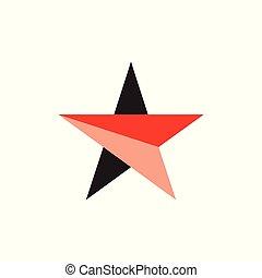stern, einfache , vektor, pfeil, logo, geometrisch