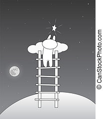 stern, himmelsgewölbe, nehmen