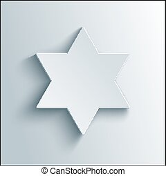 stern, magen, symbol., vektor, david, david., religiöses