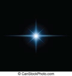 stern- stoß, lichtkegel, vektor