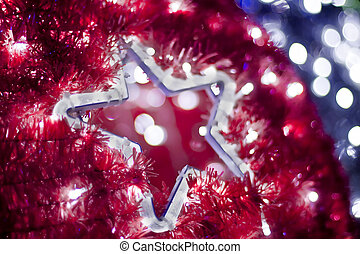 Stern von Licht - Light decoration in star formation.