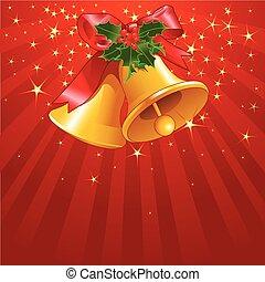 sterne streifen, mit, weihnachten, b