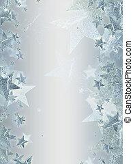 sternen, blank, grau, hintergrund, silber