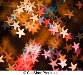 sternen, farbig
