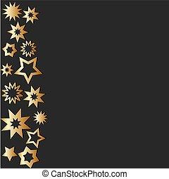 sternen, gold, abbildung, dein, dunkel, vektor, hintergrund, design, bestand