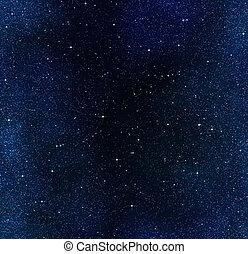sternen, in, der, nacht himmel, oder, raum