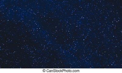 sternen, in, der, nacht himmel, zeit- versehen