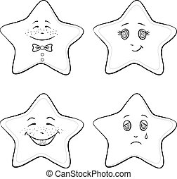 sternen, konturen, smilies
