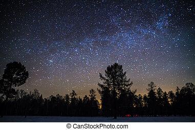 sternenhimmel, winter