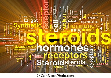 Steroids hormones background concept glowing - Background...