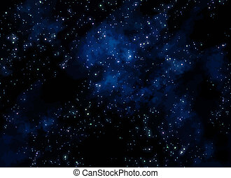 sterretjes, in, ruimte
