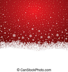 sterretjes, sneeuw, achtergrond, witte sneeuwvlok, rood