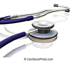 Stethoscope - 3D render of a stethoscope