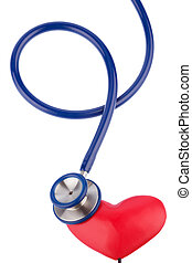 stethoscope and a heart symbol photo for cardiovascular risk...