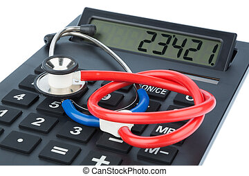 stethoscope and calculator