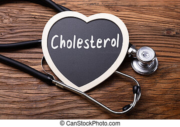 Stethoscope And Heart With Word Cholesterol