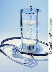 Stethoscope and Hourglass