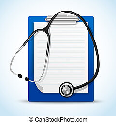 Stethoscope and notes