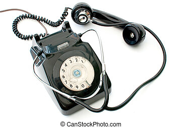 Stethoscope and telephone