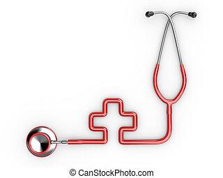 Stethoscope as symbol of medicine.