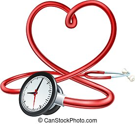 Stethoscope Clock Heart Concept