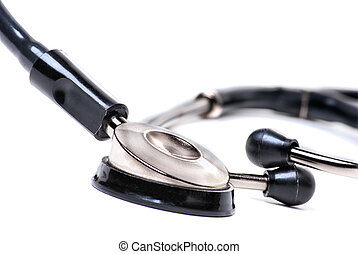 Stethoscope Close up isolated on white