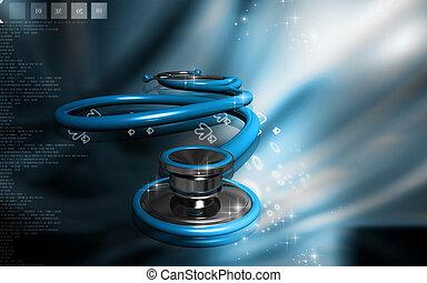 Stethoscope - Digital illustration of stethoscope in colour...