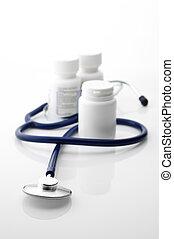stethoscope, en, flessen