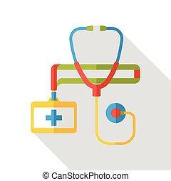 stethoscope flat icon