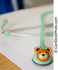stethoscope for children.