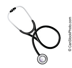 stethoscope graphic illustration design over a white ...