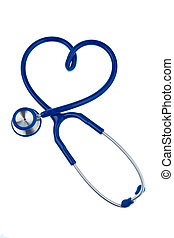 Stethoscope, heart-shaped - A stethoscope is in heart shape...