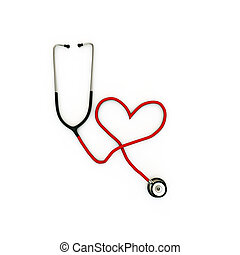stethoscope heart shaped